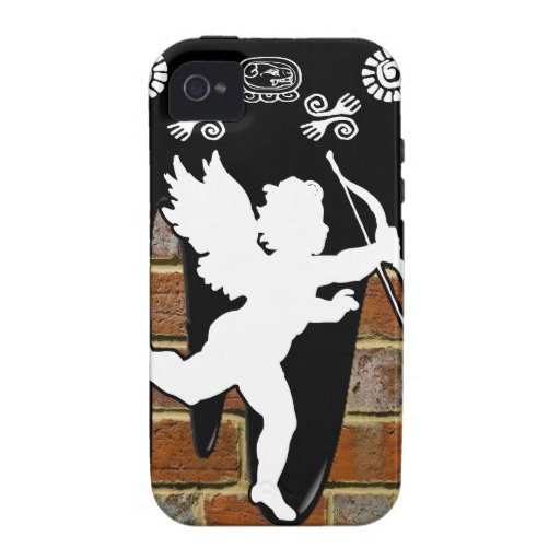 CUPID BRICK BACKGROUND PRODUCTS Case-Mate iPhone 4 COVER
