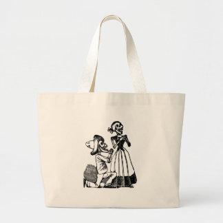 Cupid Calavera, Skeleton Lovers c. 1900s Bag