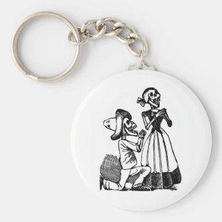 Cupid Calavera, Skeleton Lovers c. 1900s Key Chains