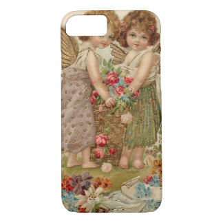 Cupid Cherub Angel Rose Forget-Me-Not iPhone 7 Case