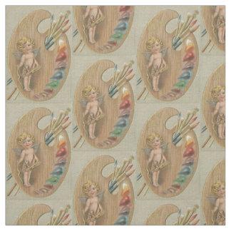 Cupid Cherub Paint Painting Brush Palette Fabric