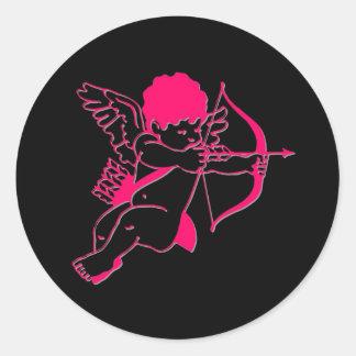 Cupid Classic Round Sticker