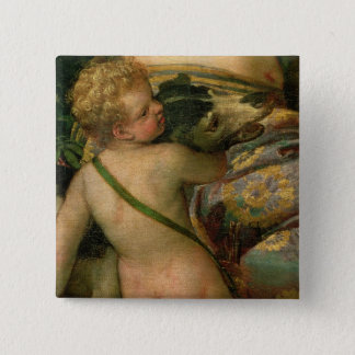 Cupid, detail from Venus and Adonis, 1580 15 Cm Square Badge
