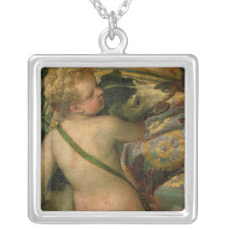 Cupid, detail from Venus and Adonis, 1580 Silver Plated Necklace