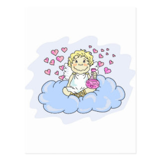 cupid-drunk with love postcard