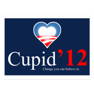 cupid for president 2012 postcard
