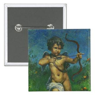 Cupid fresco Design 15 Cm Square Badge