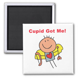 Cupid Got Me Fridge Magnet