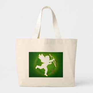 CUPID GREEN BACKGROUND PRODUCTS CANVAS BAG