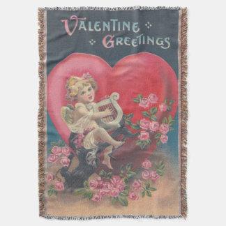 Cupid Harp Heart Pink Roses Rose