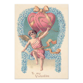 Cupid Heart Bow Arrow Forget-Me-Not Card
