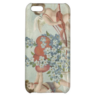 Cupid Heart Forget-Me-Not Sky iPhone 5C Cases