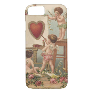 Cupid Heart Painting Roses Rose iPhone 7 Case