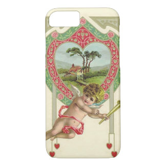 Cupid Heart Torch Cottage Rose iPhone 7 Case