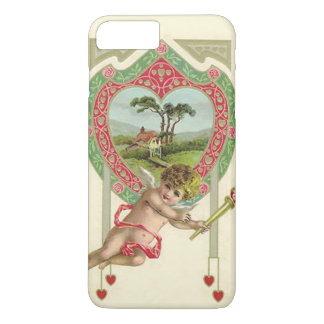 Cupid Heart Torch Cottage Rose iPhone 7 Plus Case