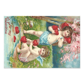 Cupid Heart Tree Pond Art Photo