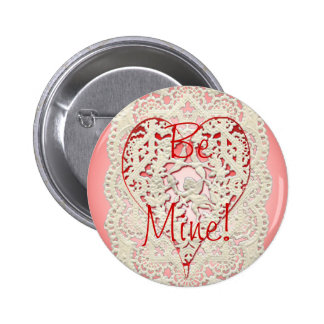 CUPID HEARTS & LACE by SHARON SHARPE 6 Cm Round Badge