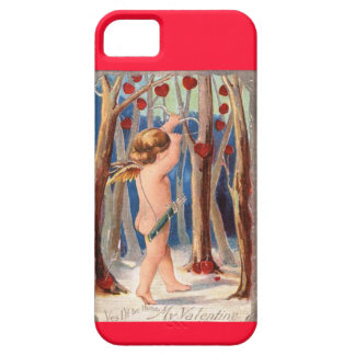 Cupid Hunting in a Forest of Hearts Valentines. Barely There iPhone 5 Case