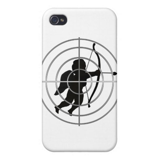 Cupid in Sight (Add your text) Cases For iPhone 4