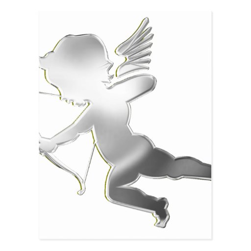 Cupid in silver post card