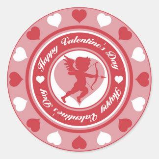 Cupid in the Round Round Sticker