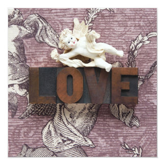 cupid love word invitation