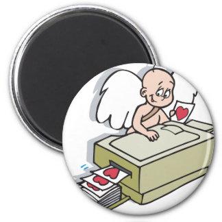 Cupid Makin Copies Valentine Refrigerator Magnet