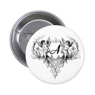 Cupid Monogram A Collection Button