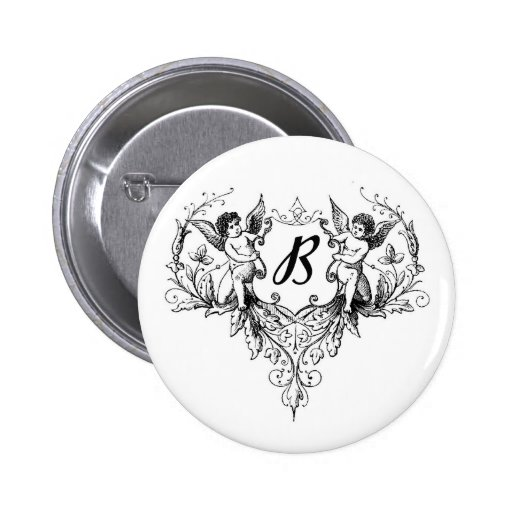 Cupid Monogram B Collection Button