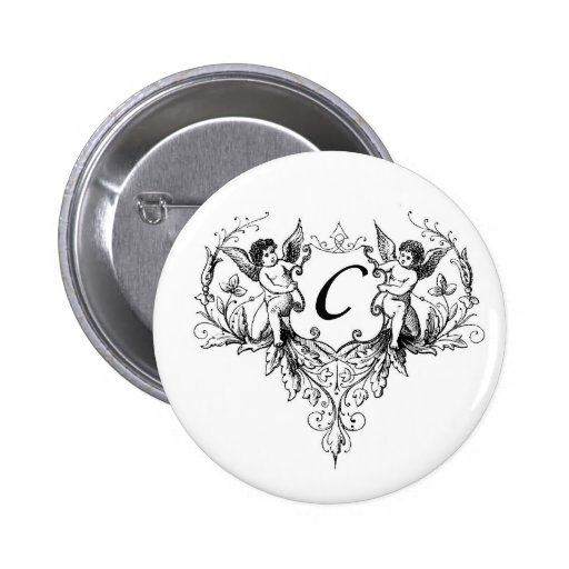 Cupid Monogram C Collection Button