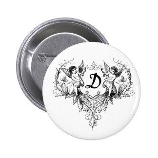 Cupid Monogram D Button