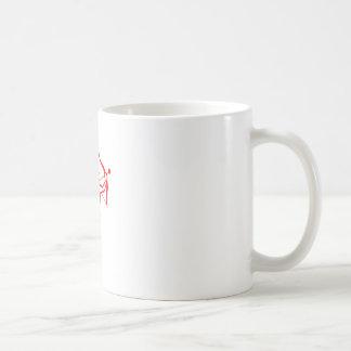 Cupid Outline Basic White Mug