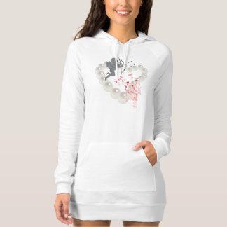 Cupid Pearls Hearts Swirl T-shirts