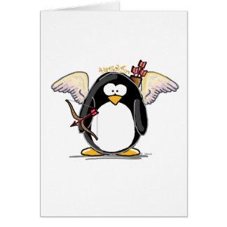 Cupid Penguin Greeting Card