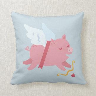 Cupid Pig Valentine Pillow