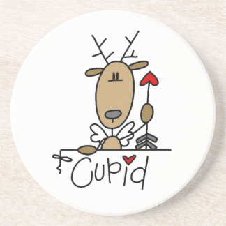 Cupid Reindeer Christmas Tshirts and Gifts Coaster