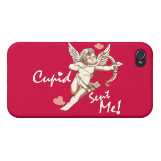 Cupid Sent Me - Valentine's Day iPhone 4 Cover