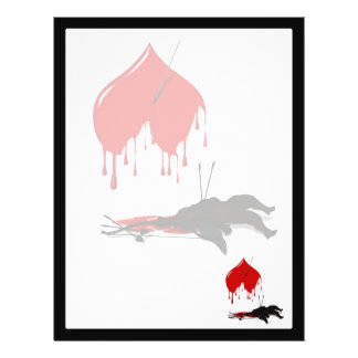 Cupid Shot Down (Anti-Valentine) 21.5 Cm X 28 Cm Flyer