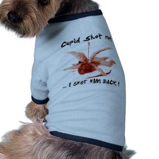 cupid shot me dog tshirt