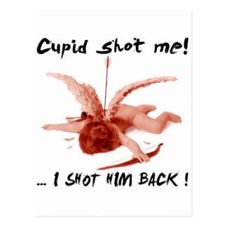 cupid shot me postcard