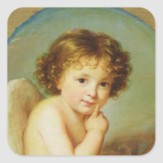 Cupid Square Sticker
