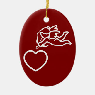 Cupid Strikes custom double-sided ornament