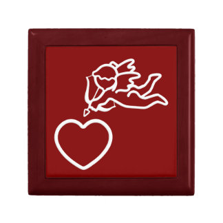 Cupid Strikes custom gift / jewelry / trinket box