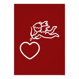 Cupid Strikes custom invitation