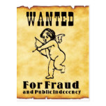 Cupid Wanted Poster Postcard