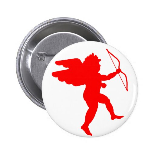Cupid with Bow (Red) - Button