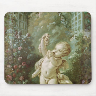 Cupid with Grapes Mouse Pad