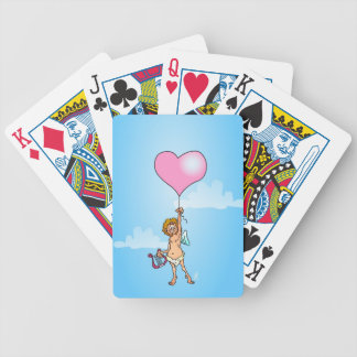 Cupid with harp on Valentine s Day Bicycle Card Deck
