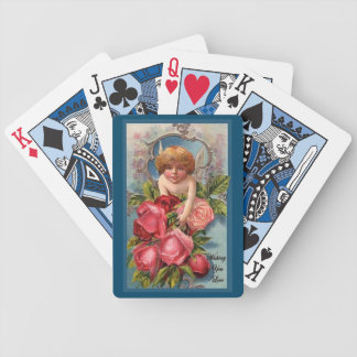Cupid With Roses Bicycle Playing Cards