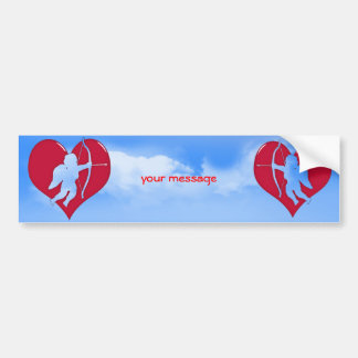 Cupid Within a Heart (Add Your Text) Bumper Sticker